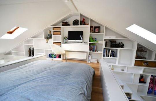 Decoración De Un Dormitorio En Una Buhardilla
