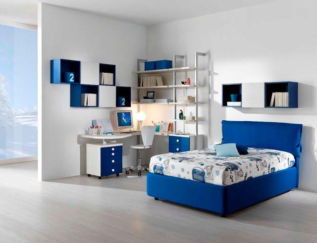 Habitaci n juvenil en tonos azules im genes y fotos - Fotos habitacion juvenil ...